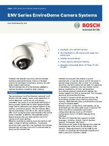 ENV Series EnviroDome Camera Systems