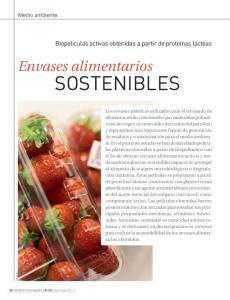 Envases alimentarios SOSTENIBLES