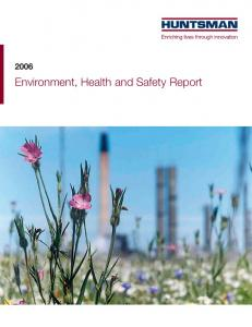 Environment, Health and Safety Report