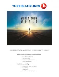 ENVIRONMENTAL and SOCIAL RESPONSIBILITY REPORT