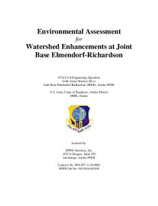 Environmental Assessment for Watershed Enhancements at Joint Base Elmendorf-Richardson