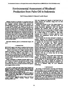 Environmental Assessment of Biodiesel Production from Palm Oil in Indonesia