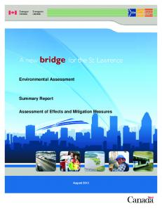 Environmental Assessment. Summary Report. Assessment of Effects and Mitigation Measures