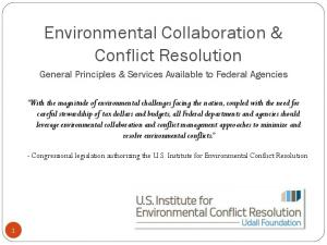 Environmental Collaboration & Conflict Resolution