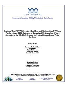Environmental Consulting ~ Drinking Water Analysis ~ Radon Testing