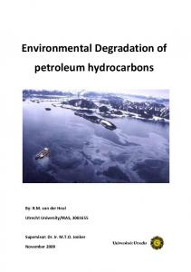 Environmental Degradation of petroleum hydrocarbons