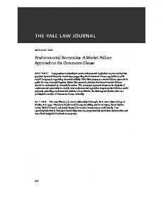 Environmental Economics: A Market Failure Approach to the Commerce Clause
