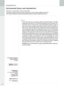 Environmental factors and endometriosis