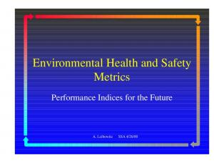Environmental Health and Safety Metrics