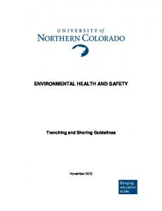 ENVIRONMENTAL HEALTH AND SAFETY. Trenching and Shoring Guidelines