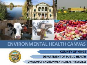 ENVIRONMENTAL HEALTH CANVAS