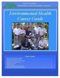 Environmental Health Career Guide