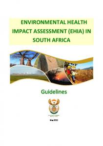 ENVIRONMENTAL HEALTH IMPACT ASSESSMENT (EHIA) IN SOUTH AFRICA. Guidelines