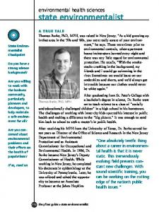 environmental health sciences state environmentalist