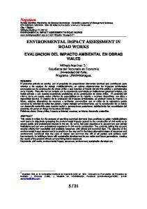 ENVIRONMENTAL IMPACT ASSESSMENT IN ROAD WORKS