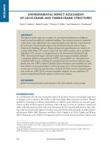 ENVIRONMENTAL IMPACT ASSESSMENT OF LIGHT-FRAME AND TIMBER FRAME STRUCTURES