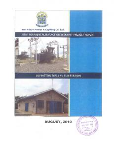 Environmental Impact Assessment Project Report
