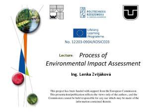 Environmental Impact Assessment