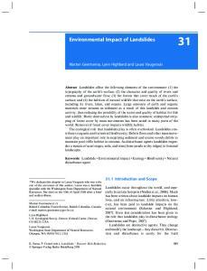Environmental Impact of Landslides