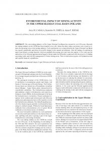 ENVIRONMENTAL IMPACT OF MINING ACTIVITY IN THE UPPER SILESIAN COAL BASIN (POLAND)
