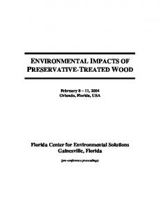 ENVIRONMENTAL IMPACTS OF PRESERVATIVE-TREATED WOOD