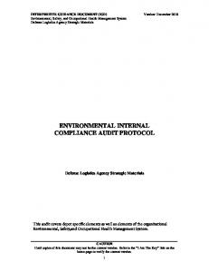 ENVIRONMENTAL INTERNAL COMPLIANCE AUDIT PROTOCOL