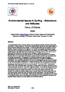 Environmental Issues in Surfing Behaviours and Attitudes