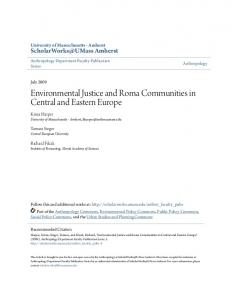 Environmental Justice and Roma Communities in Central and Eastern Europe