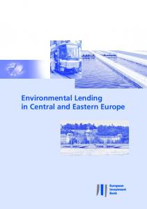 Environmental Lending in Central and Eastern Europe