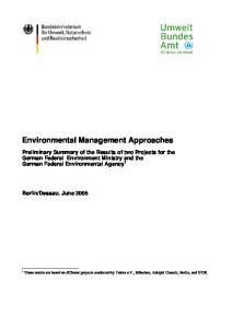 Environmental Management Approaches