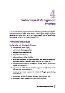 Environmental Management Practices