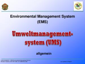 Environmental Management System (EMS) allgemein