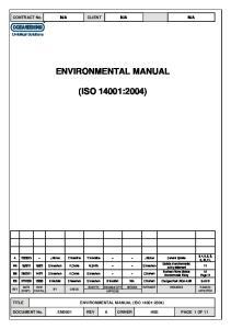 ENVIRONMENTAL MANUAL (ISO 14001:2004)