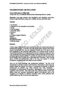 ENVIRONMENTAL MONITORING Transboundary Air Pollution - Franco DiGiovanni and Philip Fellin