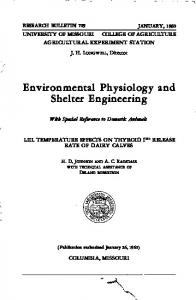 Environm.ental Physiology and Shelter Engineering