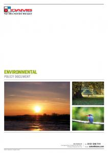ENVIRONMENTAL POLICY DOCUMENT