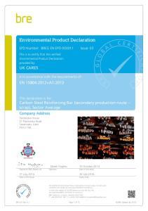 Environmental Product Declaration