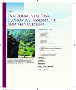 Environmental Risk: Economics, Assessment, And Management