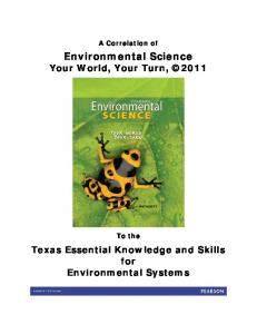 Environmental Science Your World, Your Turn, 2011
