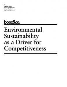 Environmental Sustainability as a Driver for Competitiveness