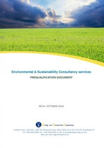 Environmental & Sustainability Consultancy services PREQUALIFICATION DOCUMENT
