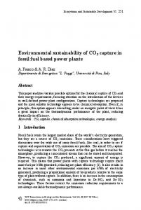 Environmental sustainability of CO 2 capture in fossil fuel based power plants