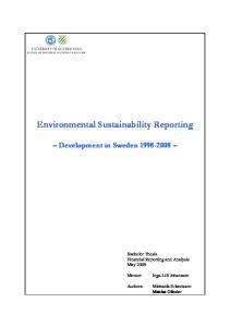 Environmental Sustainability Reporting