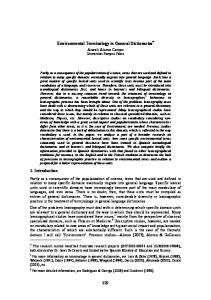 Environmental Terminology in General Dictionaries