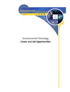 Environmental Toxicology Career and Job Opportunities