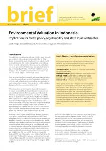 Environmental Valuation in Indonesia