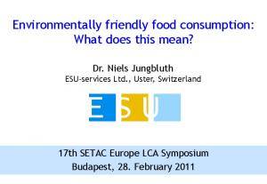 Environmentally friendly food consumption: What does this mean?