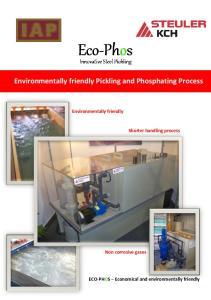 Environmentally friendly Pickling and Phosphating Process