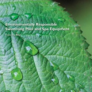Environmentally Responsible Swimming Pool and Spa Equipment. From Sta-Rite