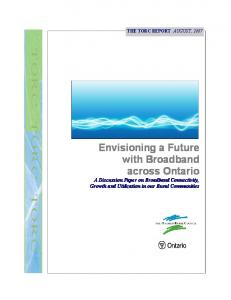 Envisioning a Future with Broadband across Ontario